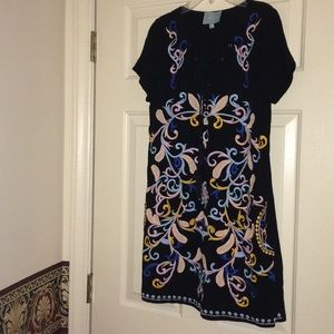 Skies Are Blue Embroidered Dress Size Small